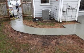 concrete sidewalk poured for a local customer