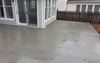patio made of concrete poured for a local customer
